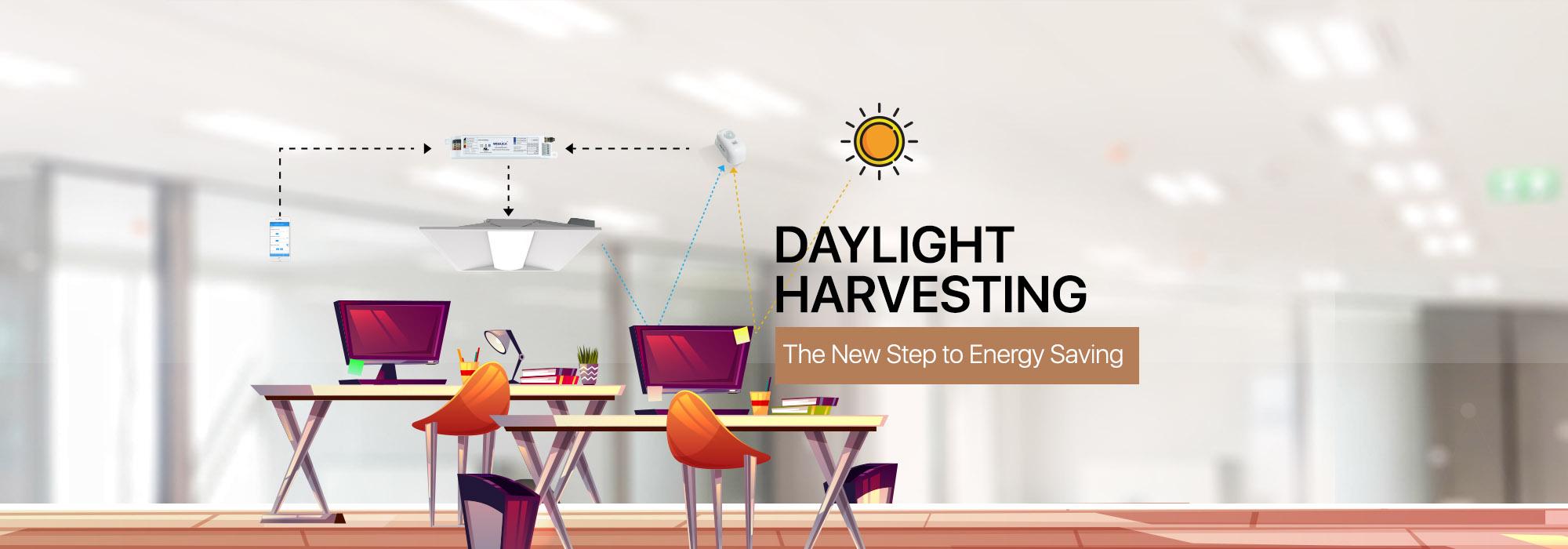 Lighting control strategy-Daylight harvesting